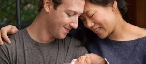 Mark Zuckerberg, Priscilla Chan e sua filha Max