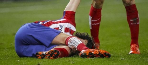 Tiago, en el momento de su lesión