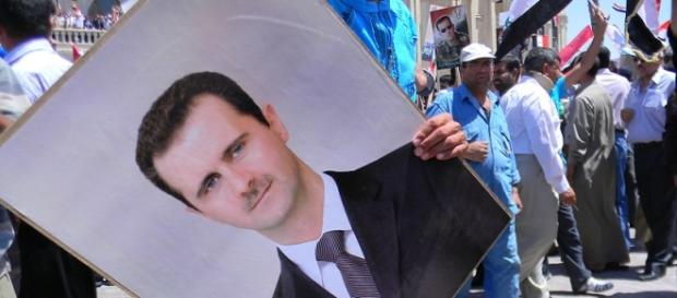 Un'immagine del presidente siriano Bashar al-Assad