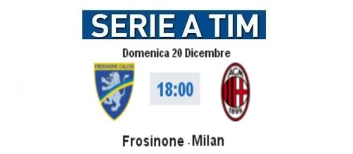 Frosinone - Milan in diretta live