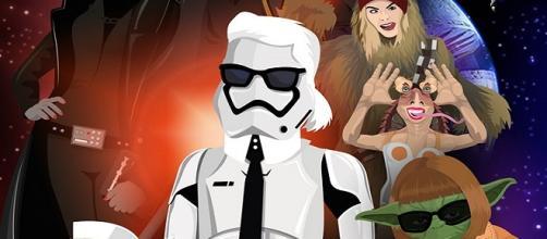 Karl Lagerfeld retratado al estilo Star Wars