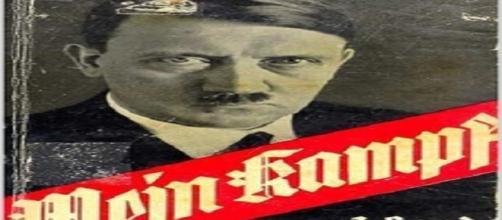Parte di copertina di una stampa del Mein Kampf