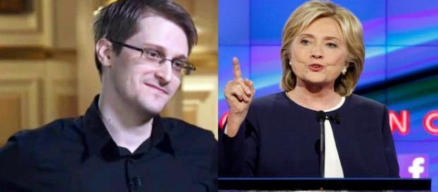 Snowden criticou política externa de Hillary