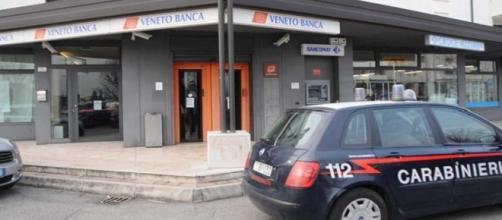 Rapina alla filiale di Veneto Banca
