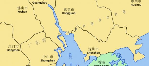 A map of Hong Kong (Wikipedia)