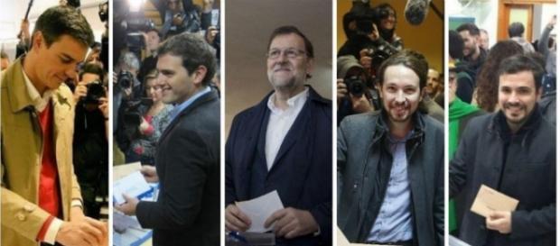 Algunos de los candidatos a las elecciones 2015.