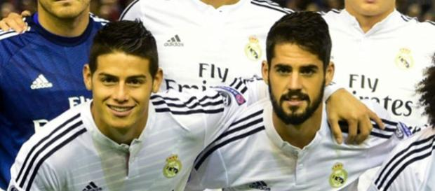 James e Isco, con el Real Madrid