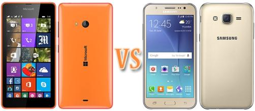 Microsoft Lumia 540 vs Samsung Galaxy J5