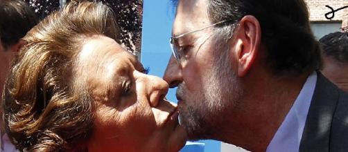 Rajoy y Barberá en un acto de campaña.