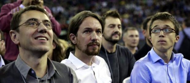 J.C. Monedero, P. Iglesias e Í. Errejón