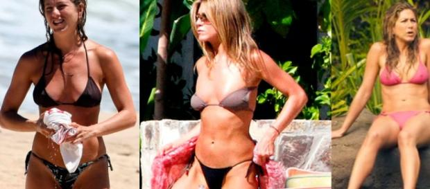 Jennifer Aniston exibe boa forma