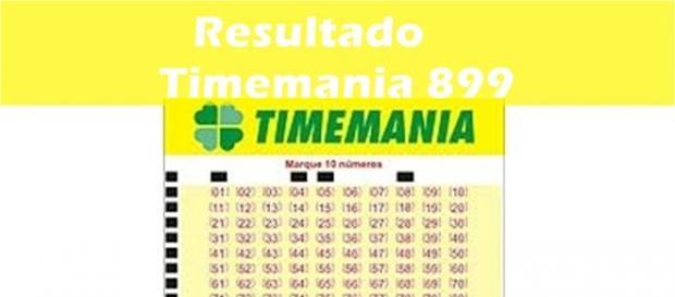 Resultado do jogo Timemania 899