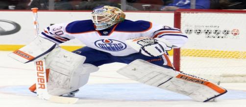 Ben Scrivens goaltending for the Oilers/Photo:Wiki