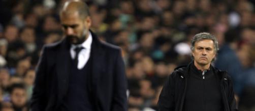 Guardiola e José Mourinho na mesma foto