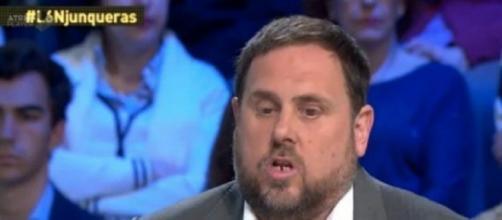 Oriol Junqueras entrevistado en 'La Sexta Noche'.