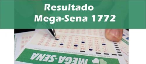 Resultado do jogo Mega-Sena 1772