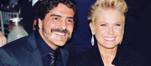 Xuxa e o namorado Junno Andrade.