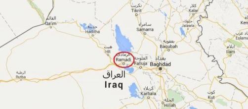 Ramadi a meno di 100 chilometri ad ovest di Bagdad