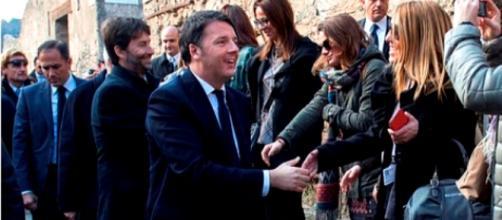 Renzi e Franceschini a Pompei il 24 dicembre 2015