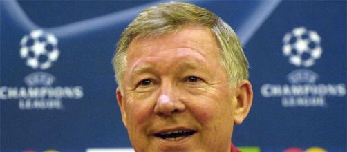 Sir Alex Ferguson in una conferenza Champions