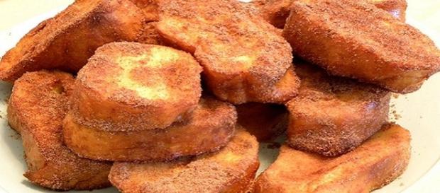 A Rabanada é um prato que não falta no natal.