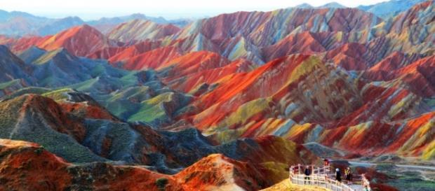 As montanhas psicodélicas de Zhangye, China