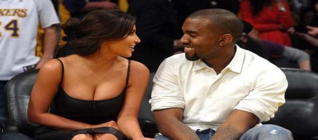 Kim Kardashian and Kanye West (flickr)