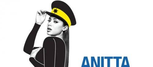 Anitta divulgando 'Bang' nas redes sociais.