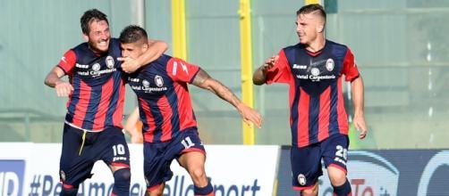 I calciatori De Giorgio, Torromino e Capezzi.