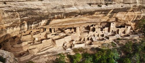 Pueblo Bonito, ciudad famosa de los anasazi.