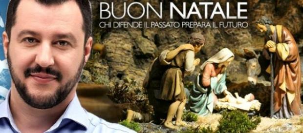 Buon Natale da Salvini su Facebook