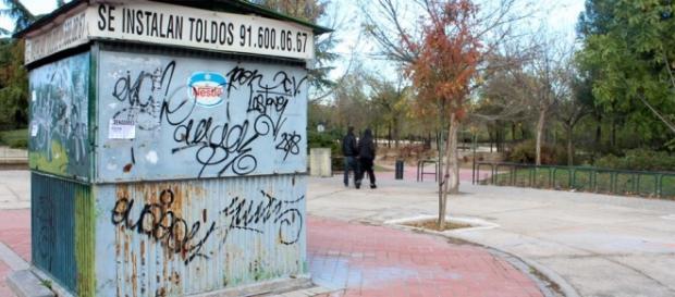 Imagen de la entrada al parque de Pradolongo
