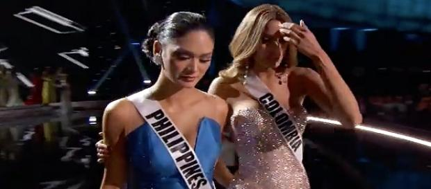 Representantes de Filipinas e Colômbia