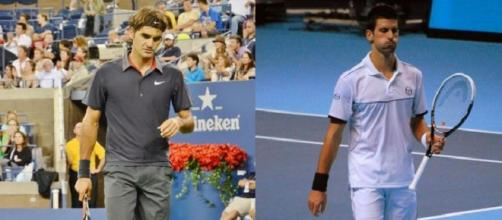 Roger Federer and Novak Djokovic (Flickr)