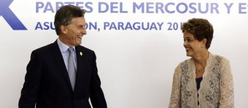 Dilma e o presidente da Argentina, Maurício Macri