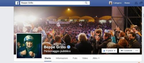 Facebook, fanpage di Beppe Grillo M5s