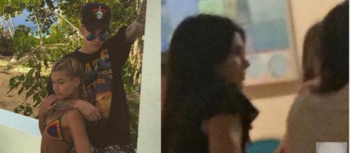 Justin con Hailey, y Kendall con Harry