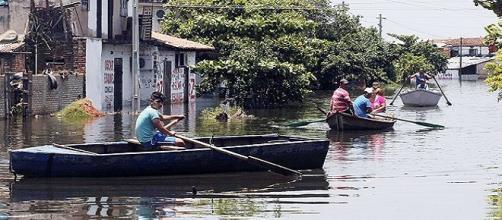 Paraguaios em um bairro na capital Assunção