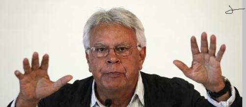 Felipe González en una intervención pública.