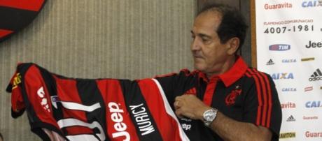 Muricy Ramalho na apresentação pelo Flamengo