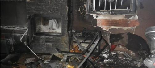 Así queda una vivienda después de un incendio