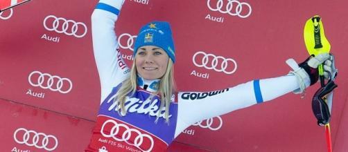 La vincitrice dello slalom di Lienz