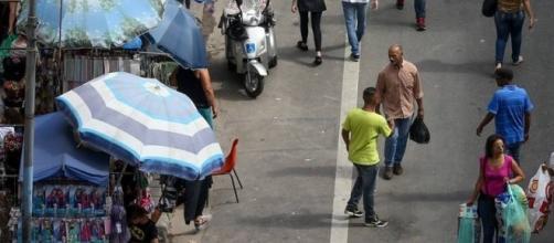 Rua 25 de março em São Paulo - Brasil