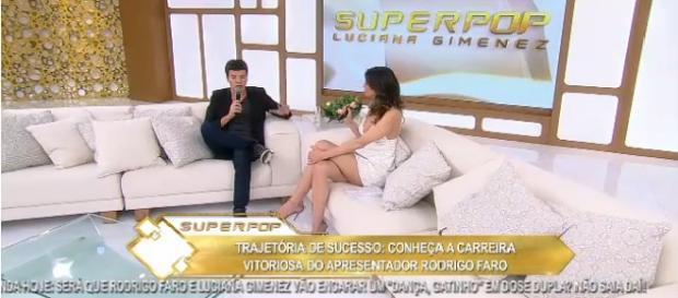 """O apresentador Rodrigo Faro no programa """"Superpop"""""""