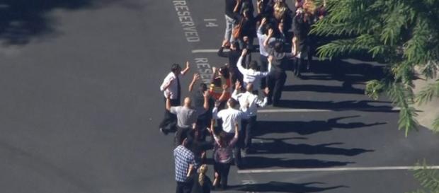 Tiroteio Califórnia - Evacuação do edifício