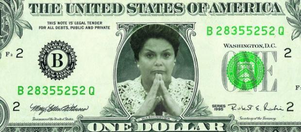 Foto/Montagem: Dilma na nota de dólar