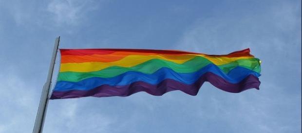 Imagen de bandera arco iris gay. Flickr