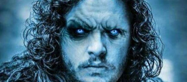 Jon Snow as White Walker in Game of Thrones S06