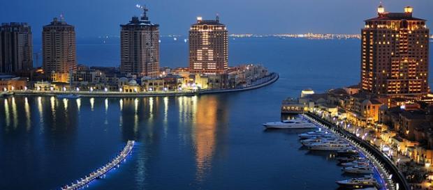 Immagine suggestiva di Dusk, perla del Qatar