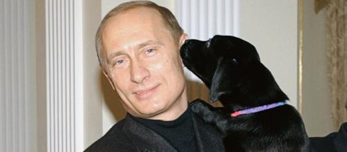 Putin presenteou menina pobre com um labrador